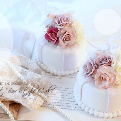 姉妹のようなクレイケーキ ♡ ギフトBox風クレイケーキレッスンの記事に添付されている画像
