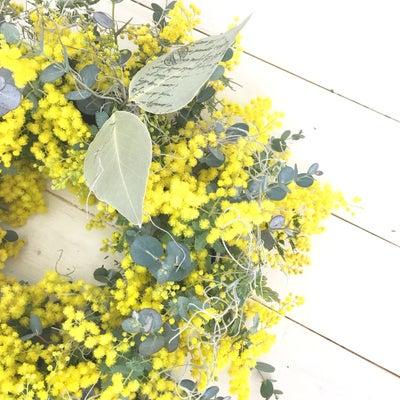 2月レギュラーレッスン ミモザのリース〜バレンタインのプレゼント〜の記事に添付されている画像