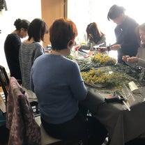 ミモザリース&スワッグレッスン bloomish東京目黒フラワーアレンジメント教の記事に添付されている画像