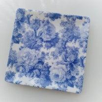 本日のポーセラーツ 青バラのプレートの記事に添付されている画像