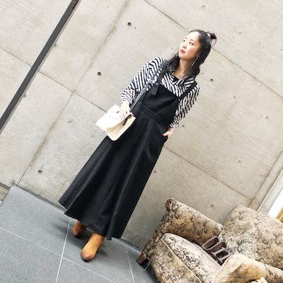 大人リネンエプロンスカートが可愛かった〜!の記事に添付されている画像