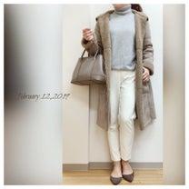 ☆今日のコーデ   カジュアルにもきれいめにも着られるボアコートコーデ☆の記事に添付されている画像