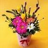 2月フラワーアレンジメント講習会のお花の画像