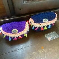 アジアンポーチ 手編みふわもこ ぷっくりポーチ カラフルタッセルポーチ 柏の記事に添付されている画像