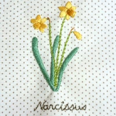 スイセンの刺繍完成しましたヽ( ̄▽ ̄)ノの記事に添付されている画像