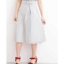 PBD 美人百花3月号愛甲千笑美さん着用フレアーストライプ部分プリーツスカートの記事に添付されている画像