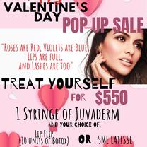 バレンタインスペシャル2日間限定セール!ヒアルロン酸ジュビダームスペシャルの記事に添付されている画像