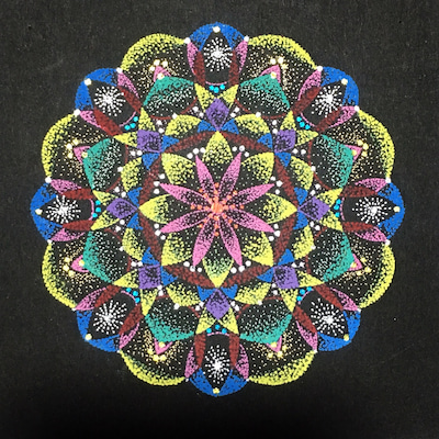 【祝福】点描曼荼羅の記事に添付されている画像