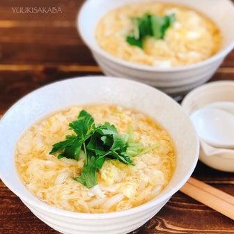 生姜でポカポカ!とろみがついた、ふわふわたまごが麺に絡んで温まる!かき玉うどんレシピ!
