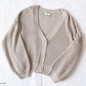 【しまパト】春アウター♡トレンドのざっくり編みカーデ♡
