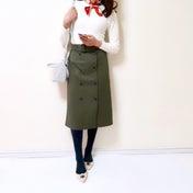 【GU】発売を待ちわびていた新作スカート/超簡単にこなれ感が出せる小ワザ♪