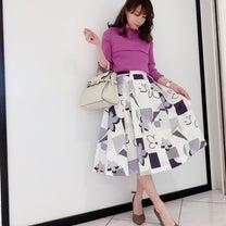 カタログ掲載♡幾何学柄スカートの記事に添付されている画像