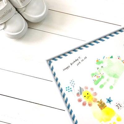 1歳の記念に「手形・足形アート」♡の記事に添付されている画像