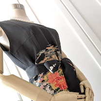 【お客様の声】黒留袖リメイクのオーダーワンピース♡の記事に添付されている画像