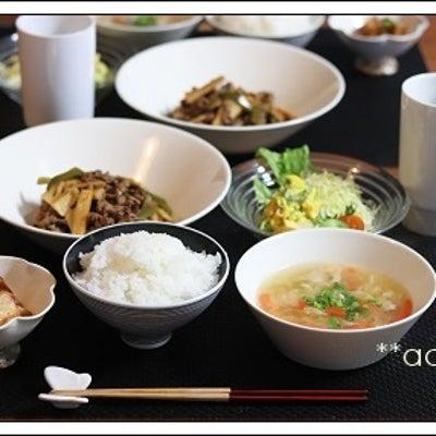お野菜大きめにカットした青椒肉絲風炒めと 春雨スープの晩ごはん♪の記事に添付されている画像