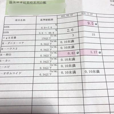 (再)アレルギー血液検査結果 10m14dの記事に添付されている画像
