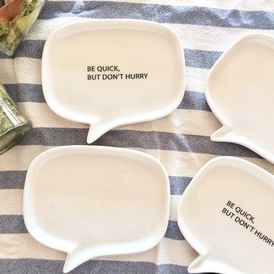 【ダイソー】吹き出し型がツボ♪ひとめ惚れしたかわいい小皿の記事に添付されている画像