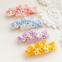 花束バレッタ レース編み タティングレースの記事に添付されている画像