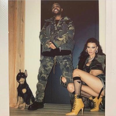 2/15 ベラ・ハディッド& The Weekndのリンクコーデの記事に添付されている画像