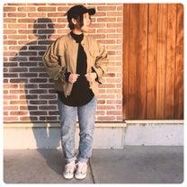春ユルジャケットと長めなワッフルトップス◇の記事に添付されている画像