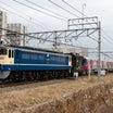 EF65 2096国鉄色+都営大江戸線12-600形 甲種輸送