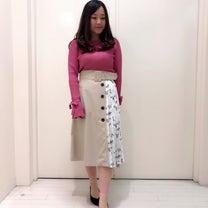 新作 小花レースドッキングトレンチスカートの記事に添付されている画像