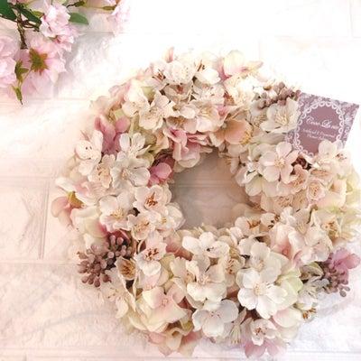 東京堂MAGIQ スプリングギフト入賞しました♡甘すぎない大人の桜リースの記事に添付されている画像