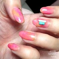 春♡ピンクタイダイ ・熊本光の森 プライベートネイルサロン フェリーチェ・の記事に添付されている画像