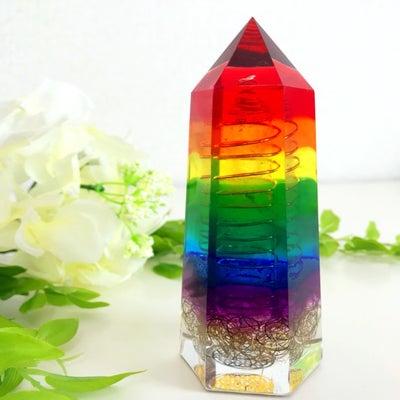水晶ポイント型オルゴナイト・24(M・11cm)の記事に添付されている画像