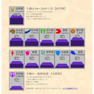 三波伸介の12正座占い(2/18~24)☆座布団枚数で今週の運勢をチェック!の記事に添付されている画像