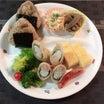 あきちゃんちの ラララ♪お弁当♪三男ランチプレート  鶏むね肉と明太子の春巻きレシピ編