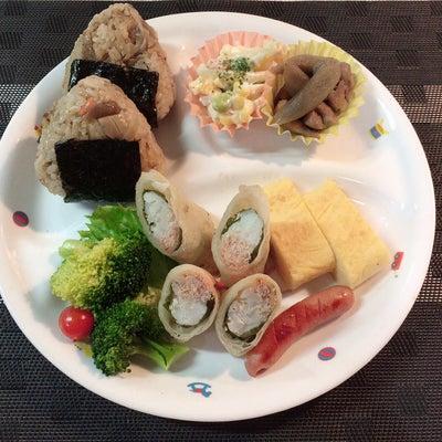 あきちゃんちの ラララ♪お弁当♪三男ランチプレート 鶏むね肉と明太子の春巻きレシの記事に添付されている画像