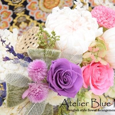 お洒落な花器にプリザーブドフラワー仏花の記事に添付されている画像