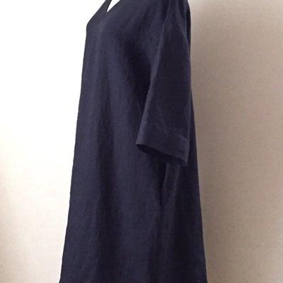 リネンの手作りワンピース〜中途半端な季節に重宝する7分袖〜の記事に添付されている画像