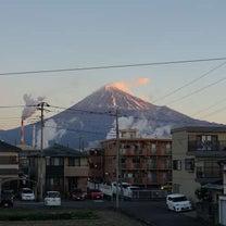 2019-01-22 朝の富士山の記事に添付されている画像