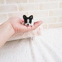 【羊毛フェルト】小さなフレンチブルドッグの記事に添付されている画像