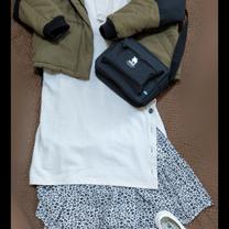 ロングワンピ×レオパードスカートの記事に添付されている画像