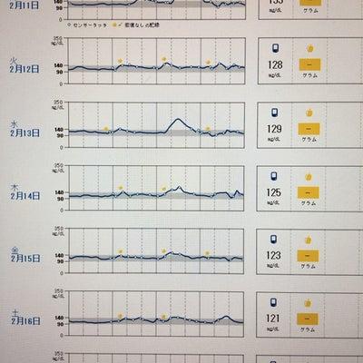 今週の血糖値分析の記事に添付されている画像