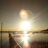 夕日に、キレイな プリズマが!の記事に添付されている画像