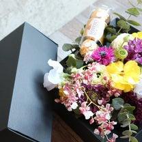 2月の1Dayレッスン、バレンタイン&春の花ひな祭り、生徒さん作品の記事に添付されている画像