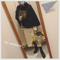 IENAのボーダーニットと白いタイトスカートで大好きな冬の白コーデ♡アウターが薄の記事に添付されている画像