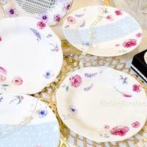 *【生徒様作品】春らしいデザインのお皿を完コピしてくださいました♡*の記事に添付されている画像