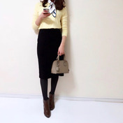 【UNIQLO】史上最高に着痩せする名品スカート/届いて大興奮した春ニット^^