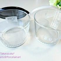 ホワイト☆蓋付きガラスカップ(生徒様作)の記事に添付されている画像