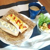 【お昼ご飯】トースト2種と、かぼちゃサラダ。の記事に添付されている画像