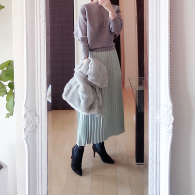 ダイエットを決意した!春カラーのロングスカート♡の記事に添付されている画像