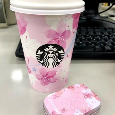スタバのカップは目黒川の桜…☆の記事に添付されている画像