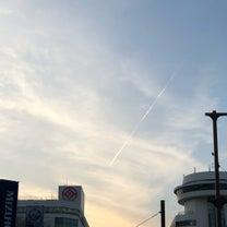 夕方飛行機雲の記事に添付されている画像