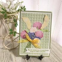 苦手なカラーで作る花束のカードの記事に添付されている画像