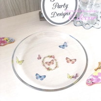 〈生徒様作品〉ご新居に♡蝶々のガラスプレートをの記事に添付されている画像